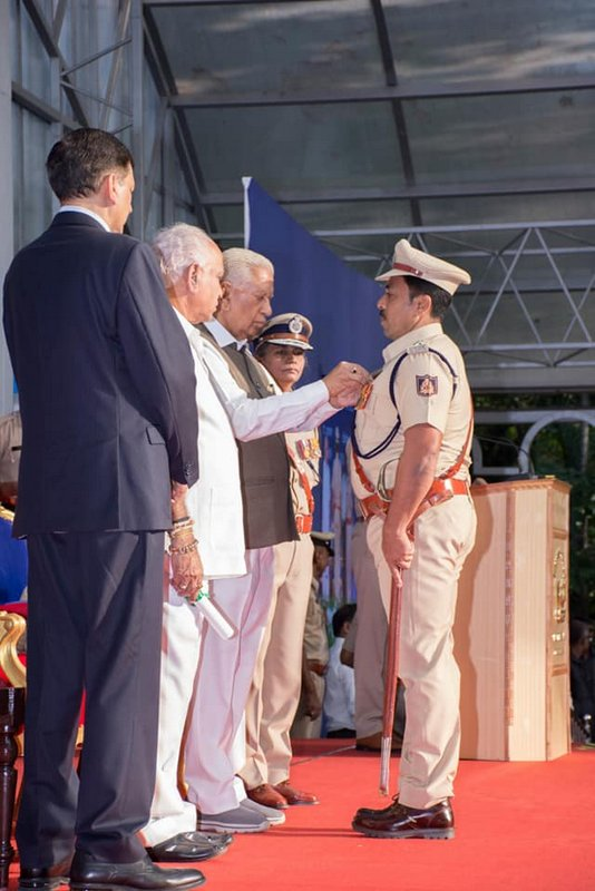 Valentine D'Souza DySP of Bhatkal conferred President's Award for distinguished service