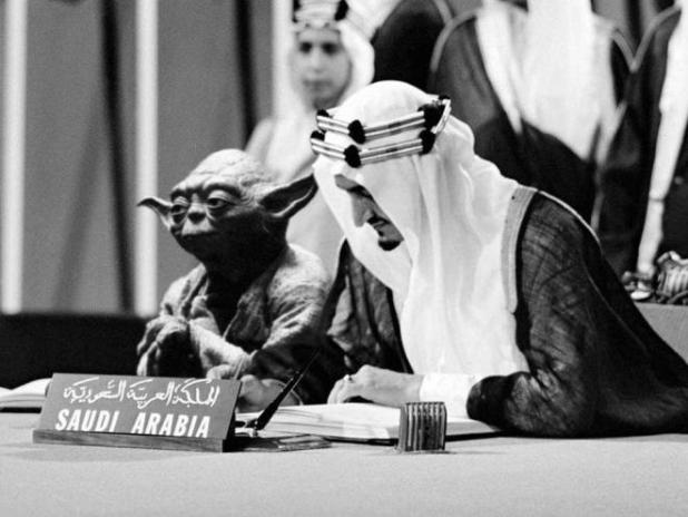 Saudi official axed over king image with 'Star Wars' icon
