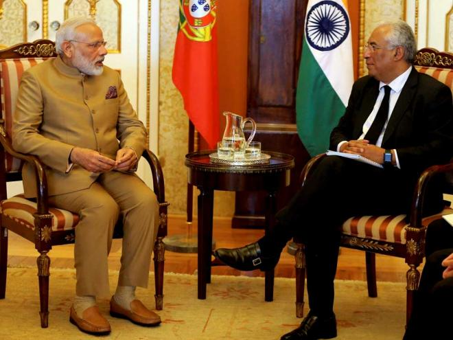 Portuguese PM treats Modi with special Gujarati veg lunch