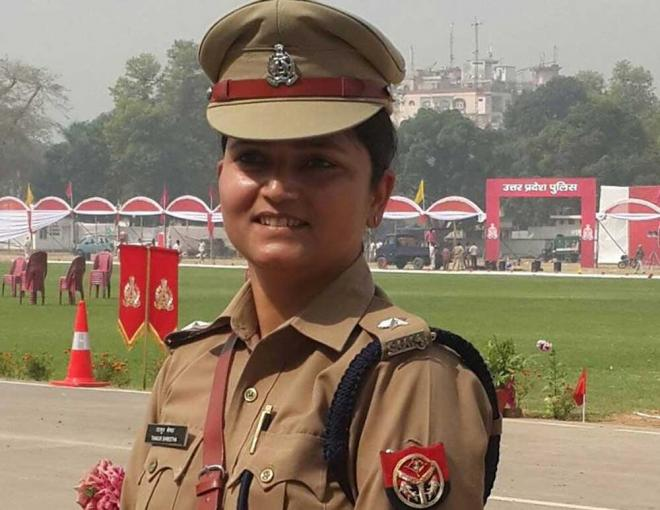 UP lady cop who stood up against BJP leaders, shunted out