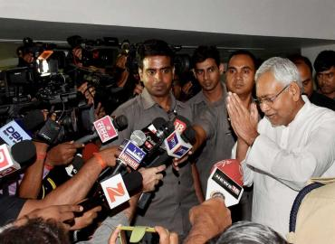Nitish back as Bihar CM