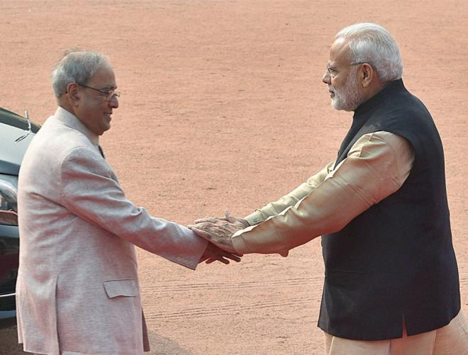 Pranab Da, you have been a father figure: PM to former president
