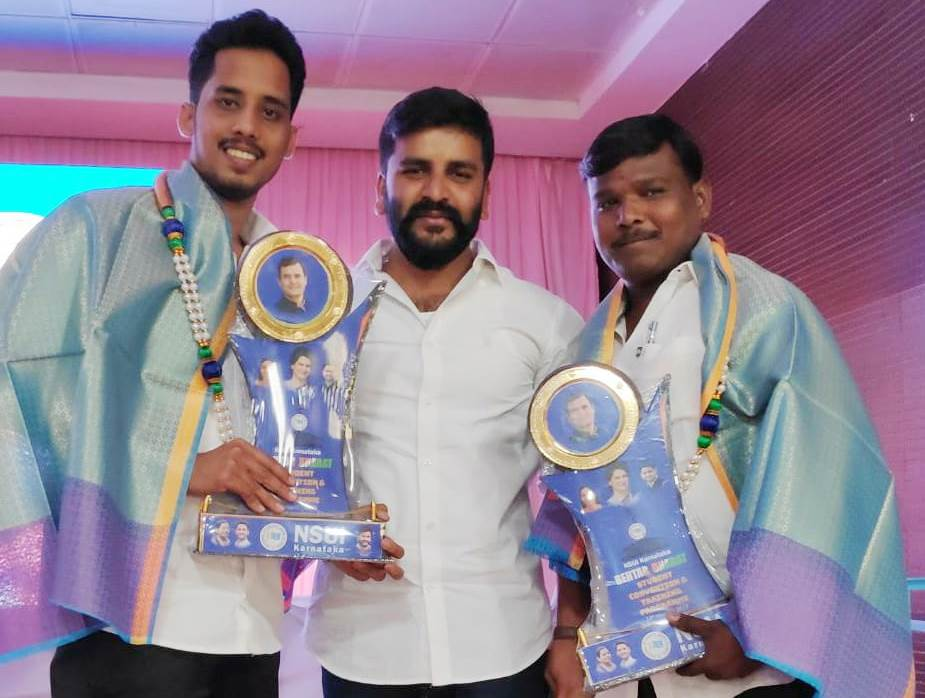 NSUI Udupi receives Award for one among top six active districts