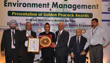 Manipal University bags Golden Peacock for Environment Management