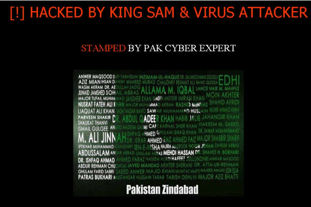 Goa BJP's website hacked, reads 'Pakistan Zindabad'