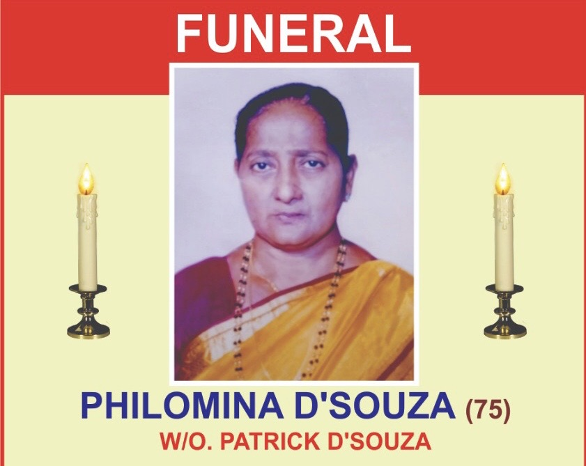 Obituary: Philomina Dsouza, Milagres, Kallianpur