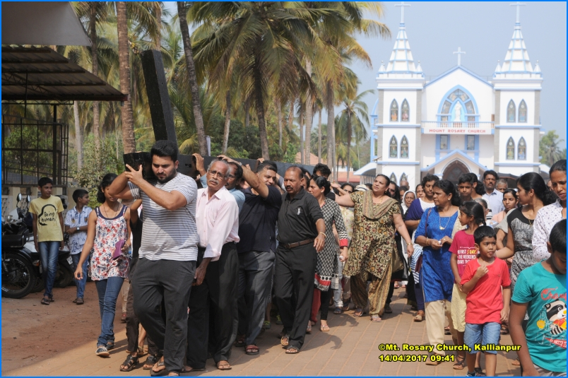 Way of the Cross on Good Friday at Mount Rosary, Kallianpur