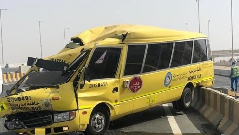 9 children, adults injured in 2 UAE school bus-car collisions