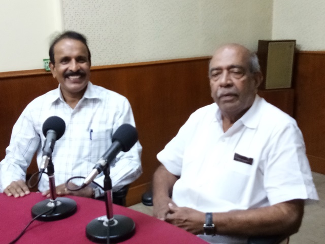 All India Radio A C Bhandary with Dr. Sadanand Perla