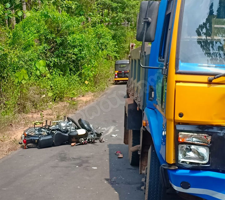 Bike-lorry accident claims two lives in Bantwal