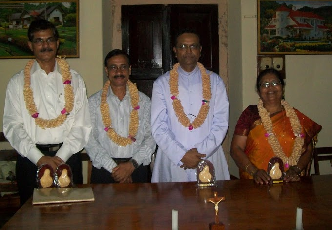 Catholic Sabha Milagres Unit felicitated Four Achievers at Kallianpur