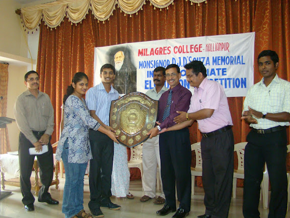 St Aloysious College Winners of Inter Collegiate Rolling Sheild at Kallianpur