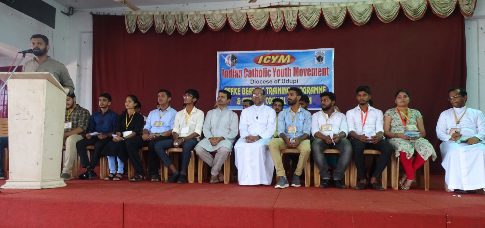 Vilton D'Souza Moodubelle unanimously elected President of ICYM, Udupi Diocese for the year 2020