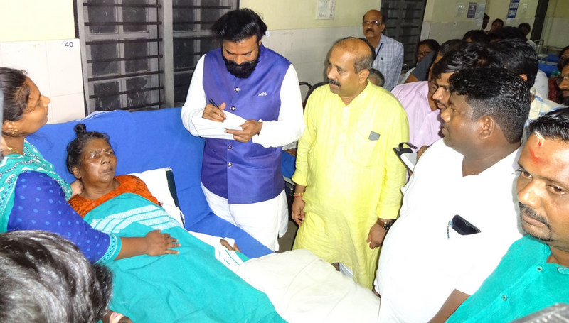 State Health Minister B Ramalu visits District Government Hospital, Ajjarkad