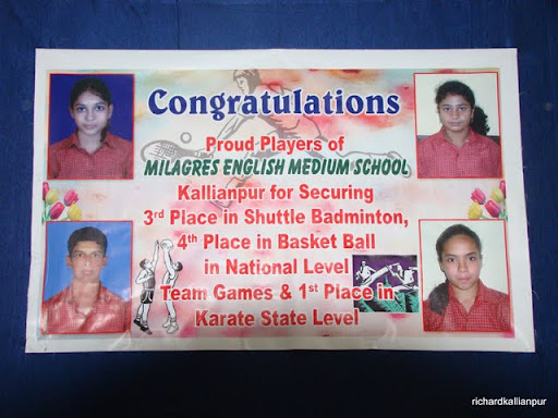 Little super stars of Milagres English School Kallianpur felicitated