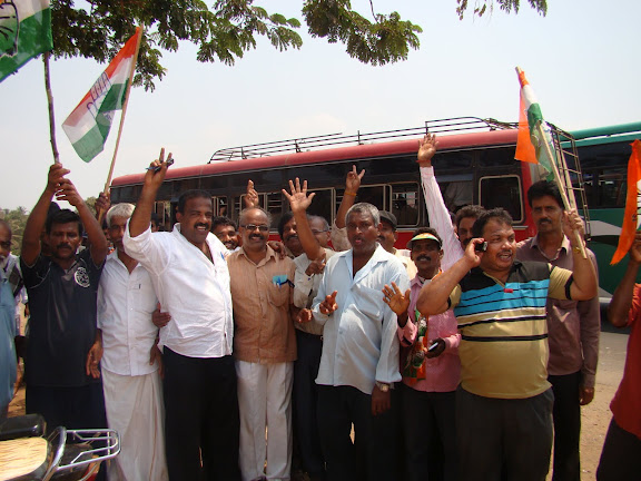 Jayaprakash Hegde's Victory - Congress workers celebration at Santhekatte, Kallianpur
