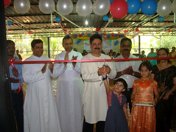 Inauguration & Blessing of newly built Kinder Garten Block at Milagres English School