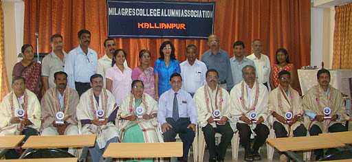 Milagres College Alumni Association felicitated Achievers - images