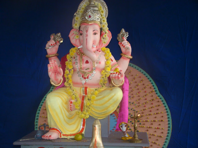 Instalation of Ganesha Idol at Santhekatte, Kallianpur