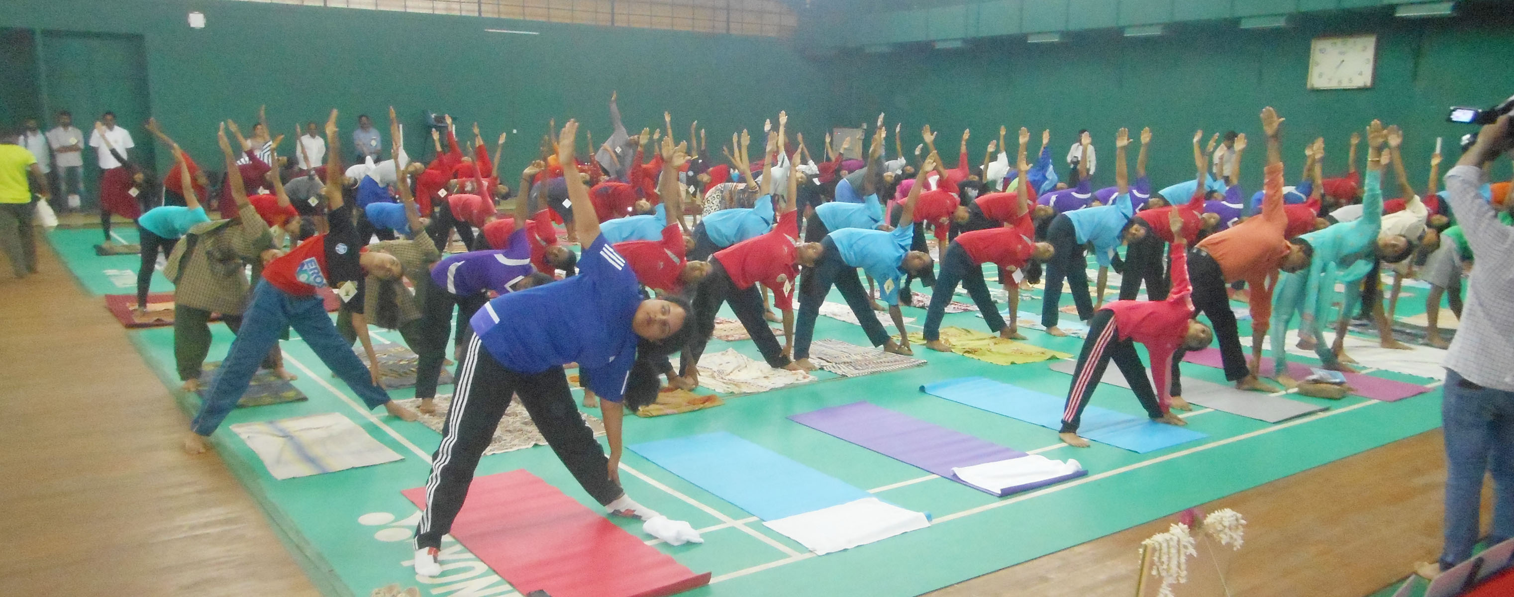 District Administration observes International Yoga Day