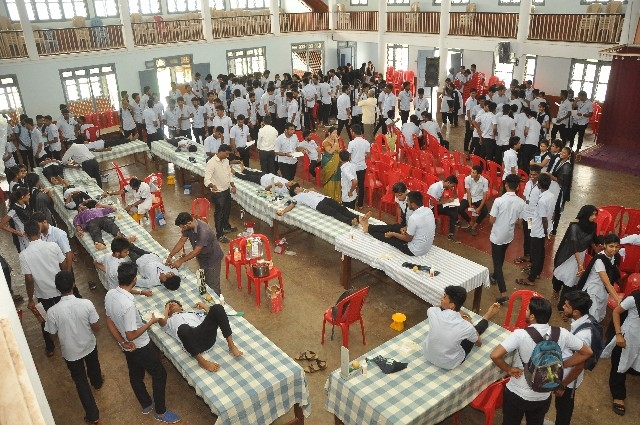 Volunatary Blood donation camp held at St. Philomana college, Puttur