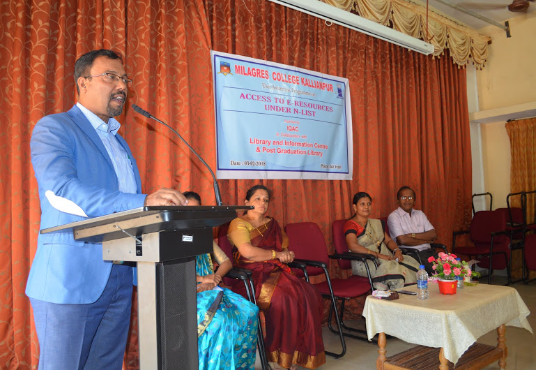 User awareness program on Access to E-Resources at Milagres College, Kallianpur