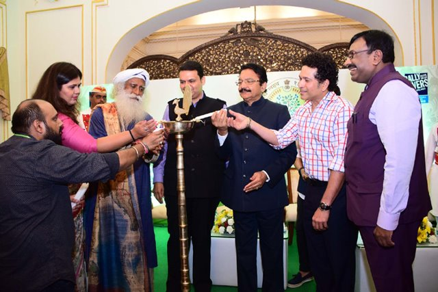 Governor of Maharashtra launch of Rally for Rivers and inauguration of the First Tree Plantation Conclave at Raj Bhavan