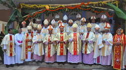 The Udupi diocese has been inaugurated by Apolistic Nuncio of India,Bishop Dr Gerald Isaac Lobo has officially taken the charge of Udupi diocese