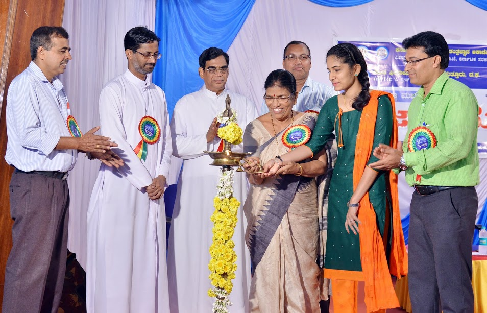 District level Science Fair held at St Philomena College, Puttur