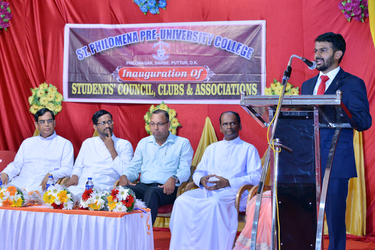 Students' Council, Clubs and Association inauguration at St Philomena P.U.College