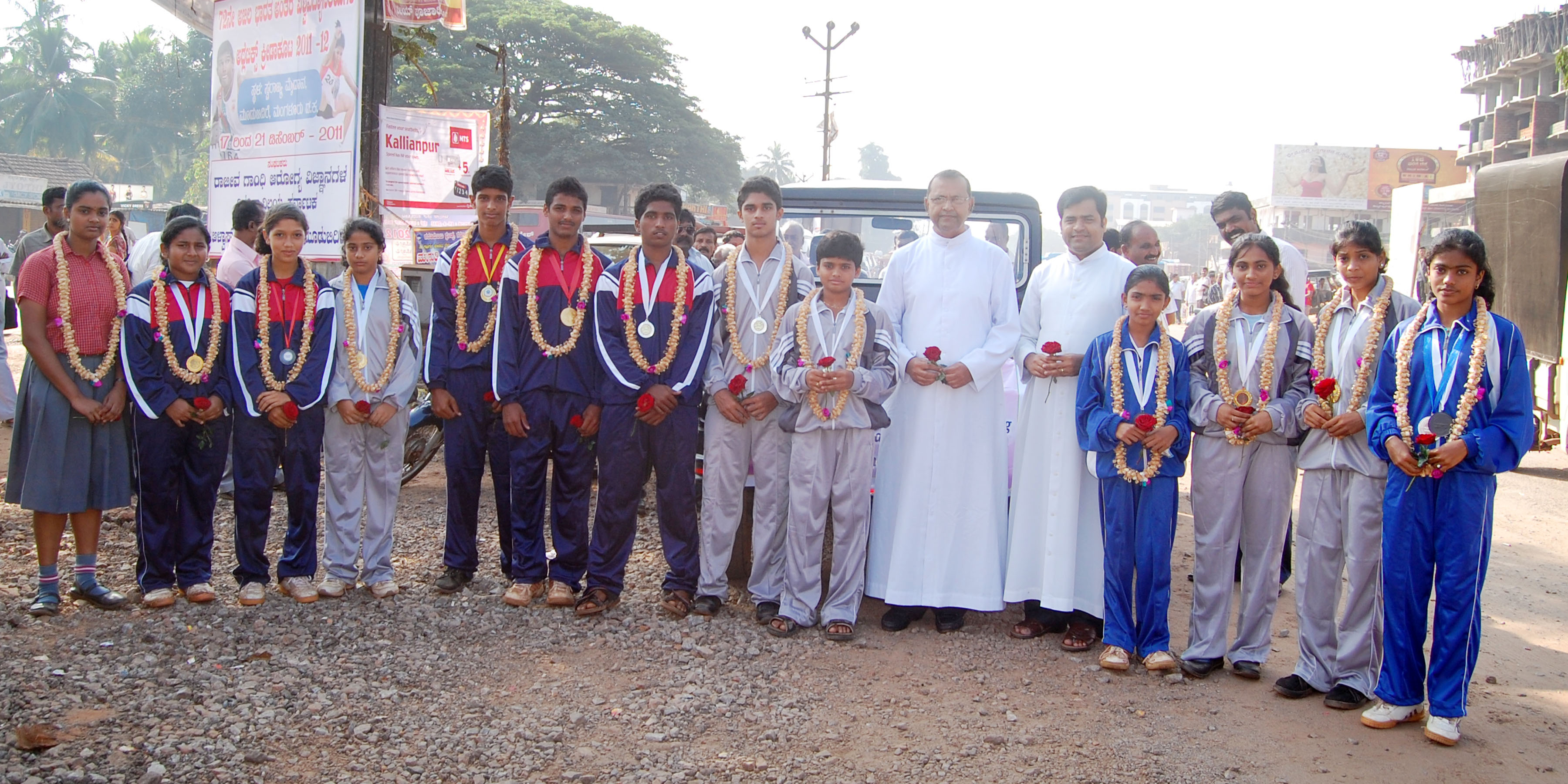 Students of Milagres English School Selected for National Level Sports - Warmly welcome at Santhekatte