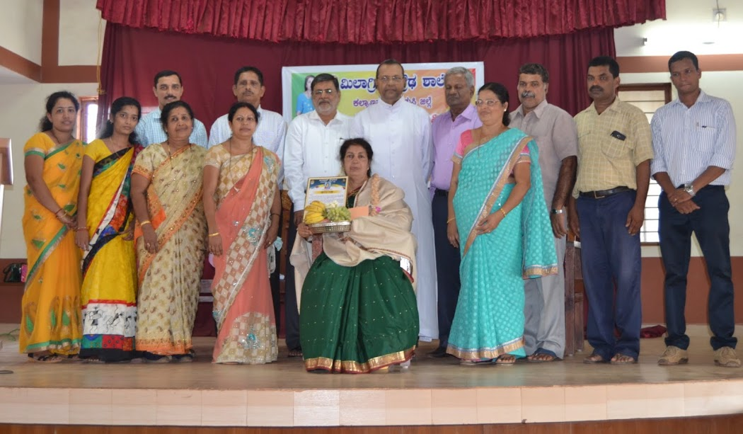 Hearty Farewell function held for Janeview Lewis of Milagres High School, Kallianpur