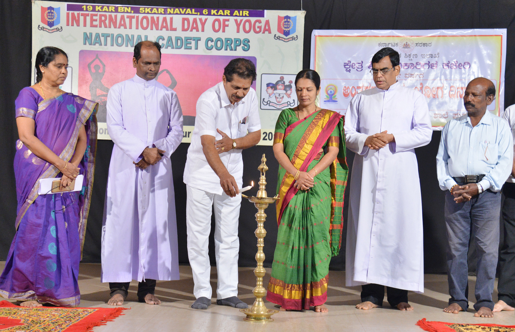 Internatiional Yoga Day celebrated at Puttur