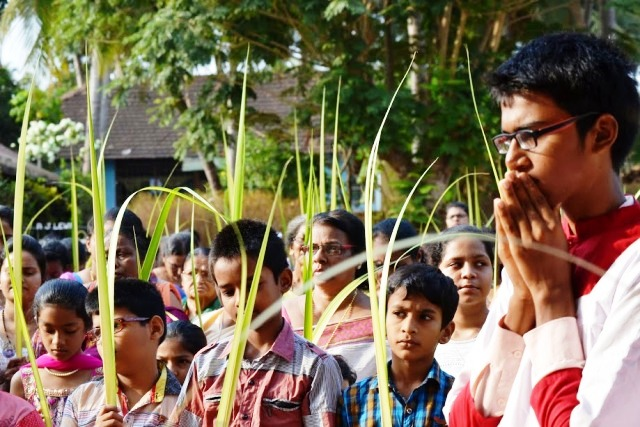 Palm Sunday marks the commencement of Holy Week at Milagres Cathedral, Kallianpur