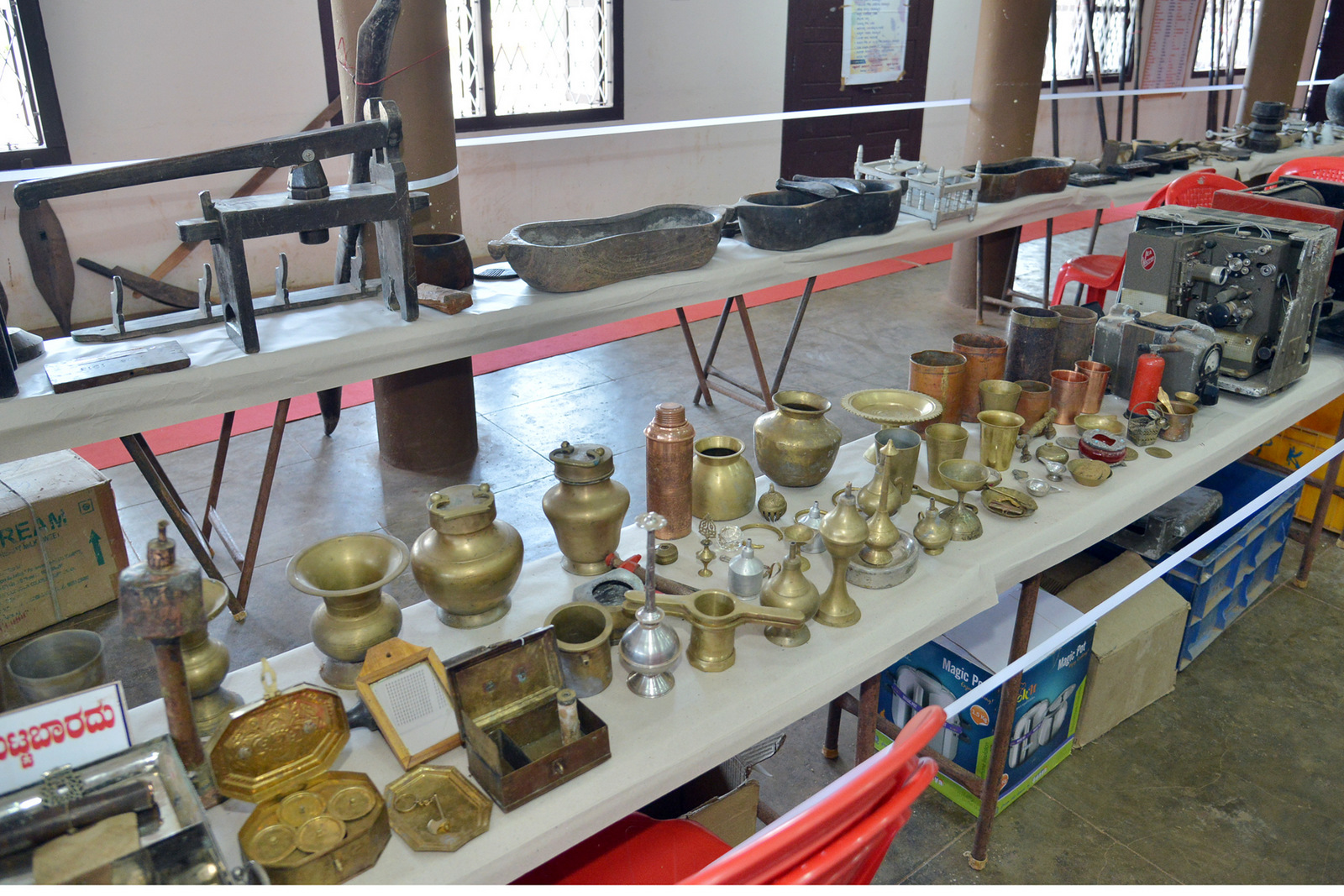 Exhibition of Tulu Folk Artefacts 'BADK' held at St Philomena College Puttur