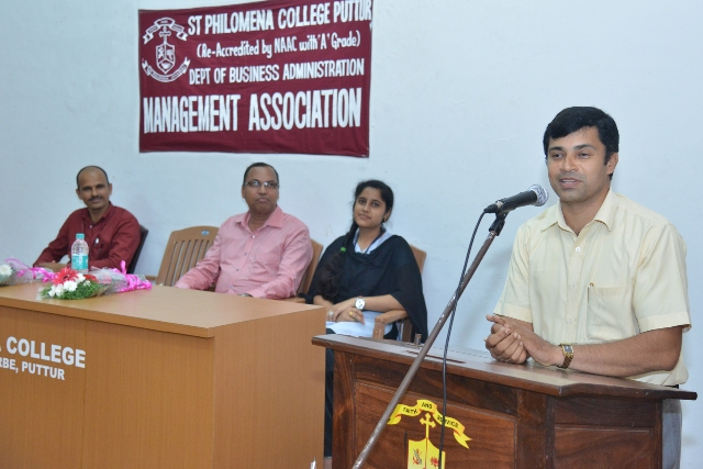 Guest Lecture on 'Entrepreneurship Development' held at St Philomena College Puttur