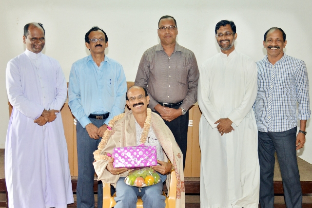 Felicitation to Prof. P. Janardhan Herle at St Philomena College, Puttur
