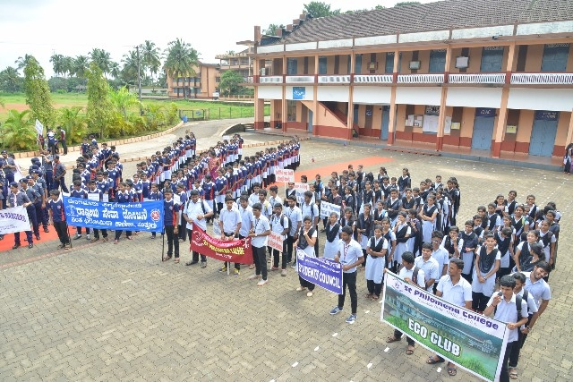 Environmental Rally organized at St. Philomena College, Puttur