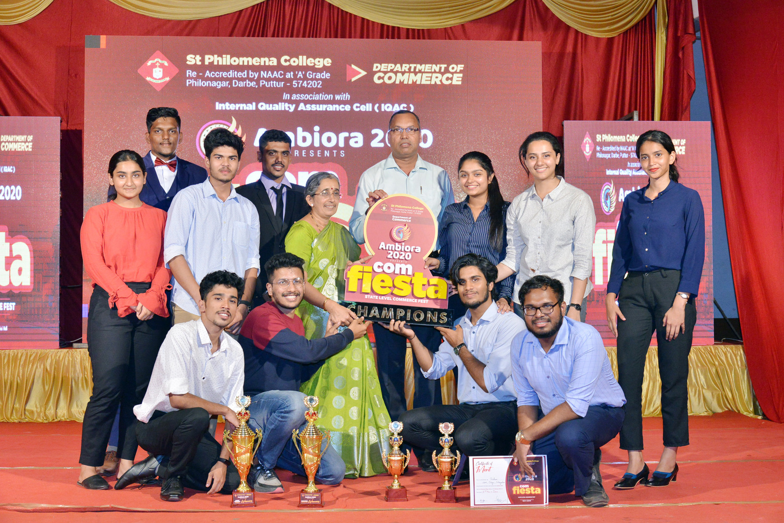 Commerce Fest 'AMBIORA 2020' organized at St Philomena College Puttur