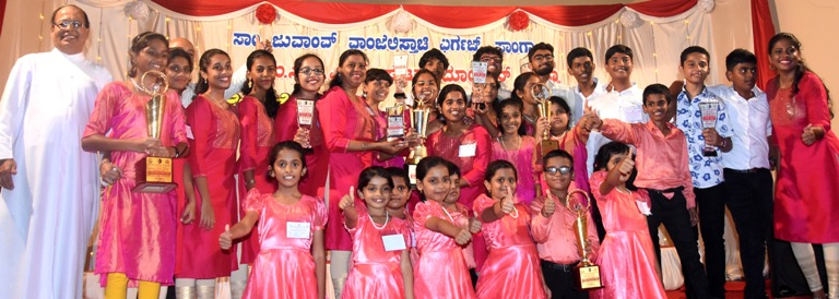 Udupi Church won consecutive fourth year diocese level Konkani Singing Competition Championship