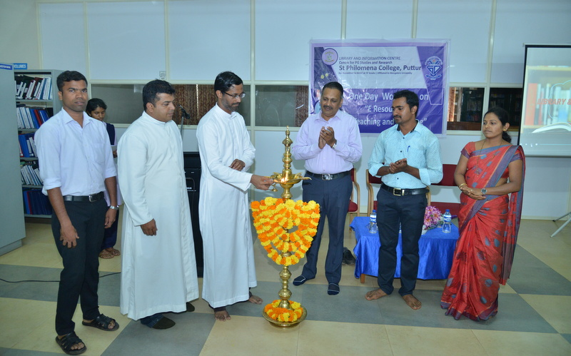One Day Workshop on 'E-Resources for Teaching and Learning' held at SPC Puttur