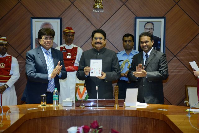 Maharashtra Governor releases Mukesh Sharma's book 'ABC of Broadcast News'.