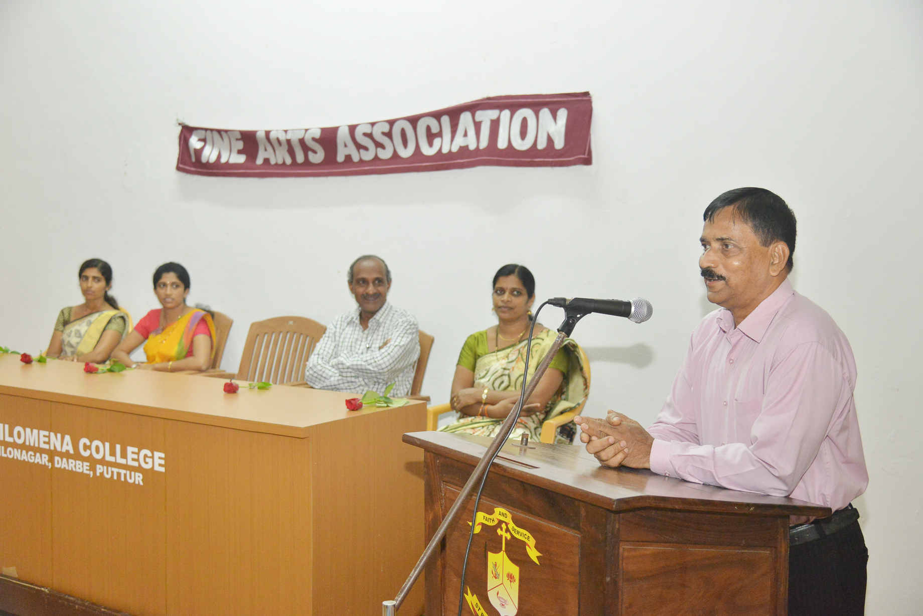 Workshop on Art and Craft held at St Philomena College, Puttur