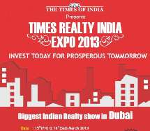 Free NRI Investment Advisory Services At Times Reality India Expo 2013 On 15th/16th March In Dubai