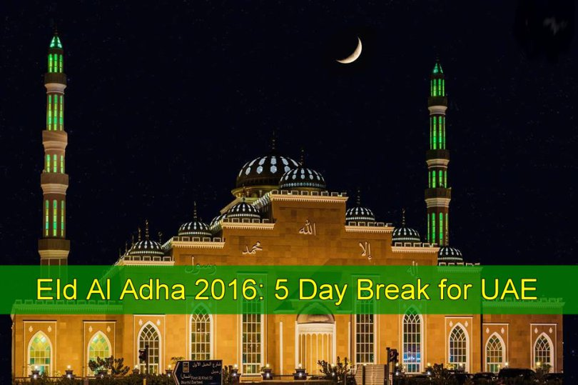 Eid Al Adha holidays in UAE announced