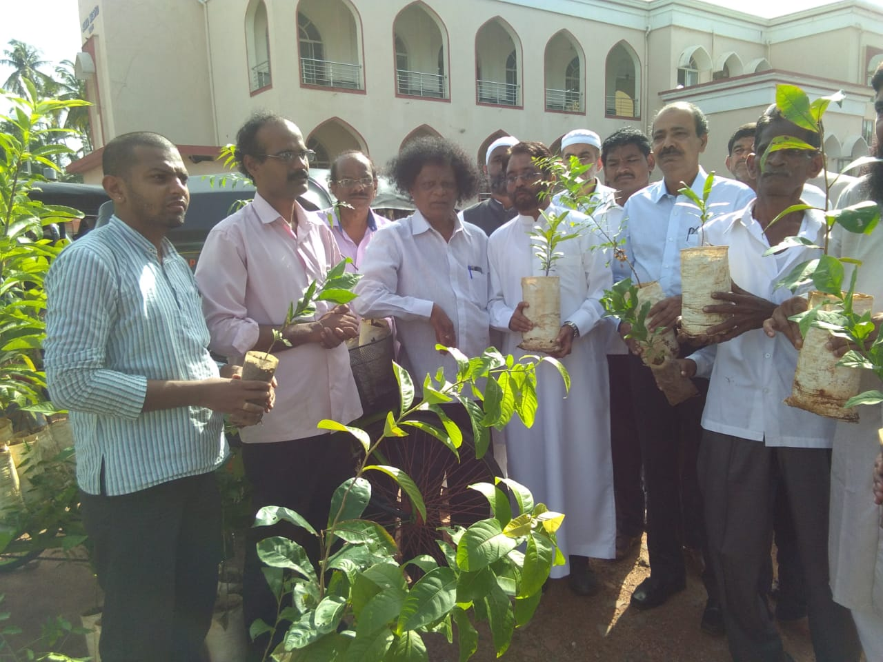 Eid Ul-Fitr celebrated with great devotion and distributing various saplings