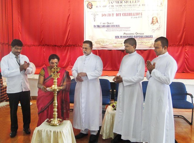 Mangaluru:Doctors' day was celebrated at Father Muller Homoeopathic Medical College and Hospital