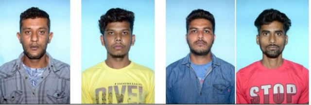 District Police arrest of four Irani gang members for robbery of gold ornaments