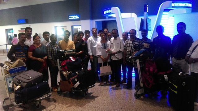 Troupe Of 'Kadala Mage' Tulu Comedy Drama Arrived In Dubai For The Show