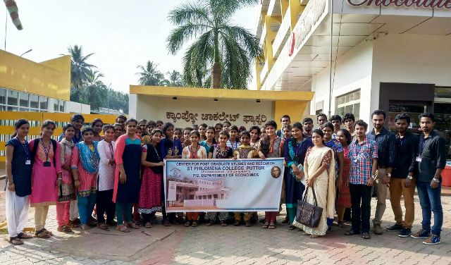 St Philomena College organized Industrial Visit Programme for PG students